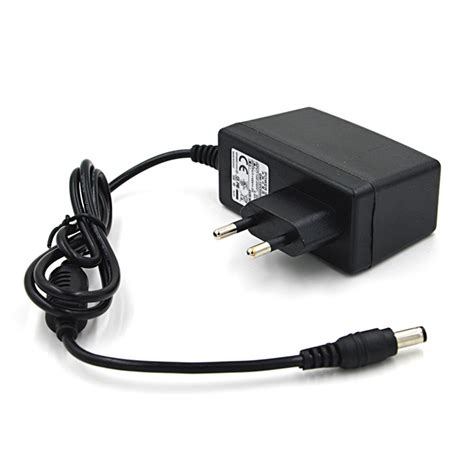 Adaptor Universal 12v 12v 2a universal power adapter charger black eu