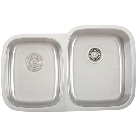 ticor stainless steel sinks ticor s315r undermount stainless steel double bowl kitchen