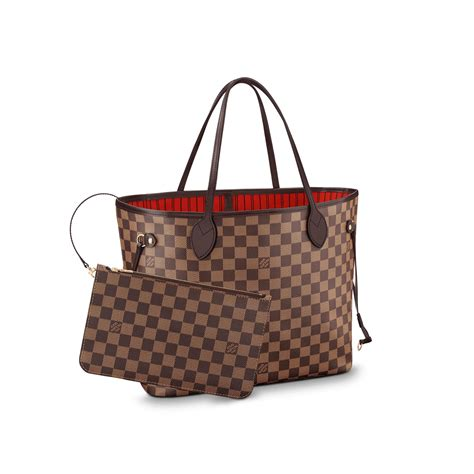 Louis Vuitton Bag From And The City by Neverfull Mm Damier Ebene Handbags Louis Vuitton