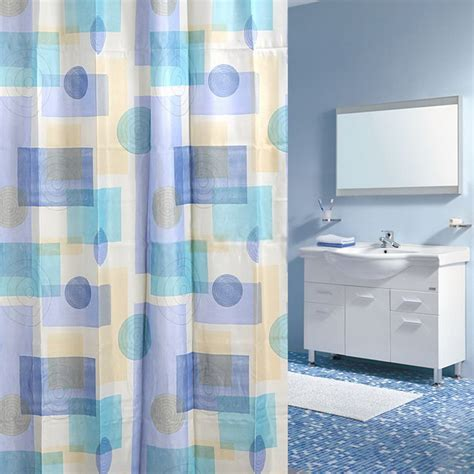 waterproof fabric shower curtain modern print waterproof fabric shower curtain