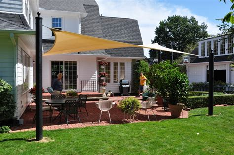 backyard sail shades shade sails traditional patio cleveland by turf world co