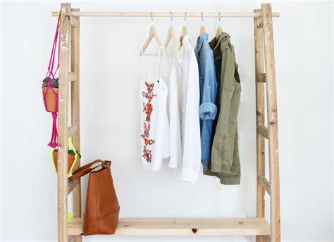 diy garderobe diy ladder wardrobe a pair a spare