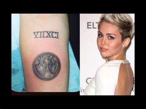 miley cyrus gets leonardo da vinci heart tattoo from kat