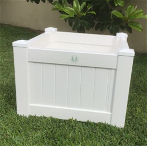 Square White Planter Box by Htons Style Planter Boxes Square White Panelled