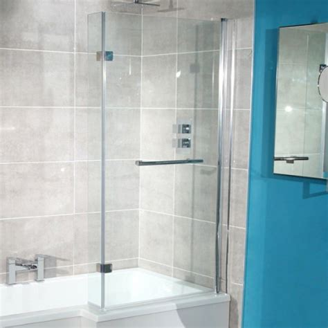 left hand  shaped shower bath