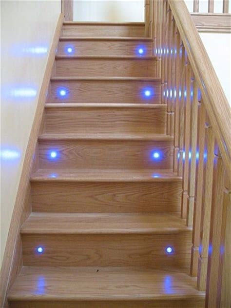 glass stairs donegal stairs with lights oak cut
