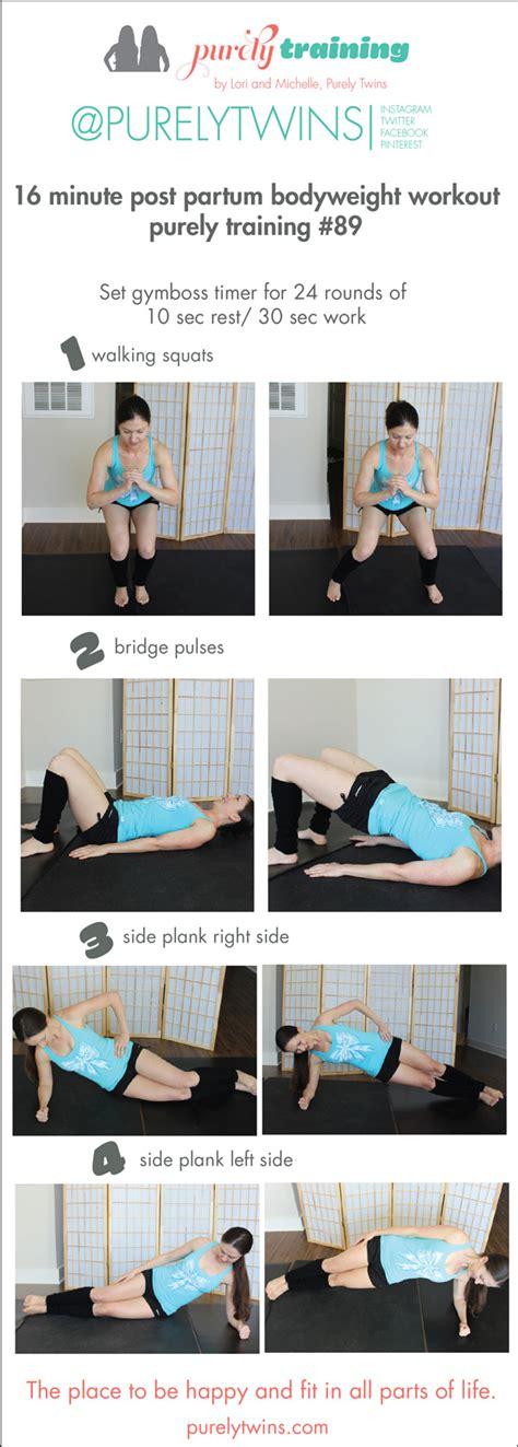minute post partum workout diastasis recti safe