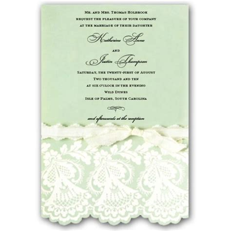 embossed and diecut mint wedding invitations paperstyle