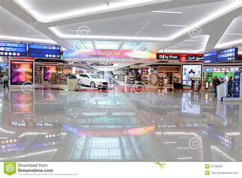 design free zone dubai airport interior editorial photography image 41736337