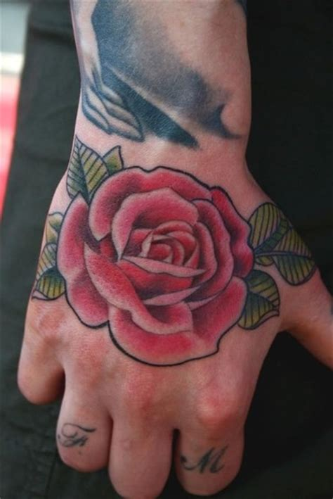 rose hand tattoo by difa tattoonow