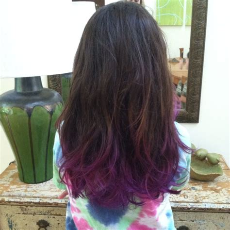 what purple hair dip dyed with black looks like purple dip dye looks so good with brown hair hairstyles