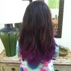 colors that look good with purple purple dip dye looks so good with brown hair hair ideas