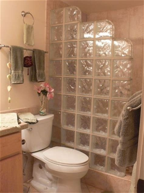 Glass Block Showers Small Bathrooms Glass Block Shower Bathroom Redo
