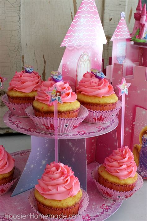 princess party cupcakes  decorations hoosier homemade