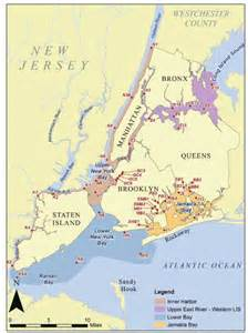 New York Harbor Map by New York City Department Of Environmental Protection