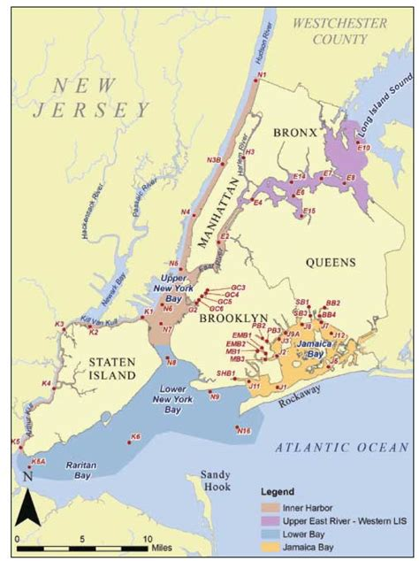 map new york harbor new york city department of environmental protection