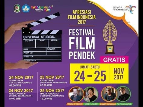 festival film pendek epicentrum festival film pendek apresiasi film indonesia 2017 youtube