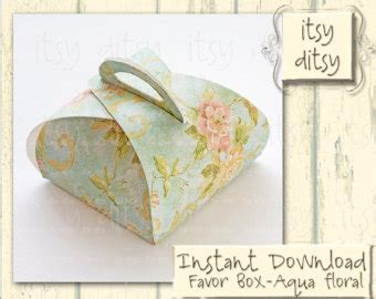 wedding favor box template favor box template etsy
