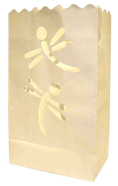 Luminaries Paper Bags - paper candle bag luminaries white dragonfly 10 pack