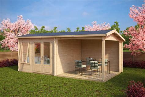 garten veranda gartenhaus mit terrasse nora d 9m 178 44mm 3x6