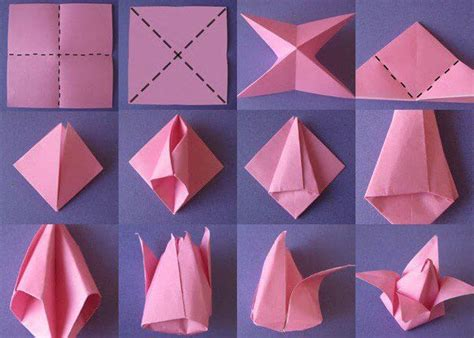 How To Make Flower With Origami Paper - diy origami flowers step by step tutorials k4 craft