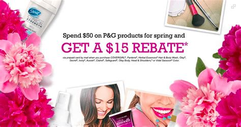 15 Rebate Through Scrapbookcom by P G 15 Rebate On Covergirl Herbal Essence Pantene