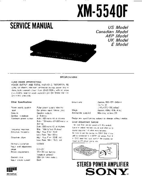 sony xm 554zr wiring diagram sony xplod wiring diagram