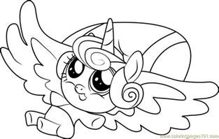 flurry heart coloring free pony friendship magic coloring pages