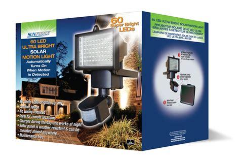 sunforce 60 led solar motion light review sunforce 60 led ultra bright solar motion light 82156