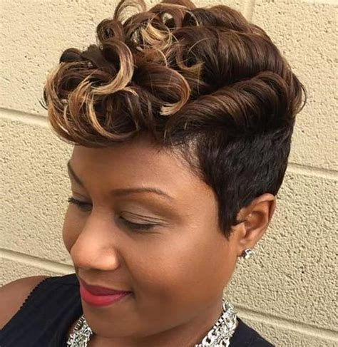 african american barrel curls short black hairstyles with highlights hairstyles