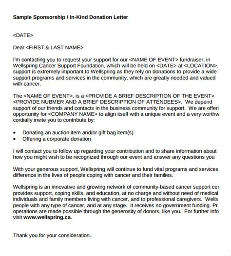 Fundraising Letter Pdf Sle Donation Letter Format 10 Documents In