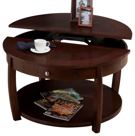 jofran lift top coffee table jofran 436 2 riverside round lift top cocktail table with