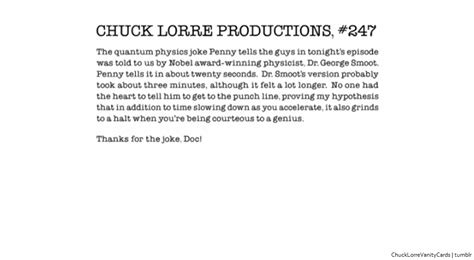 Big Vanity Cards by Chuck Lorre Productions