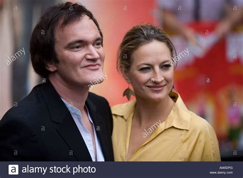 quentin tarantino zoe bell quentin tarantino and actress zoe bell during the german