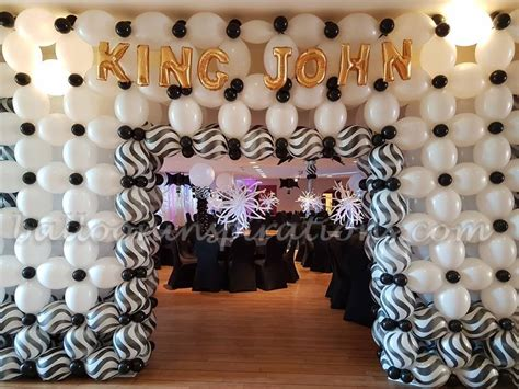 black and white decorations black and white themed prom balloon decorations