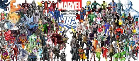 collage of marvel and dc characters hd wallpaper and marvel vs dc wallpapers wallpaper cave