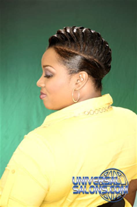 universal black hair studios short mohawk hairstyle from kenya rodgers