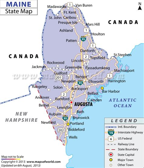 map of maine usa maine state map