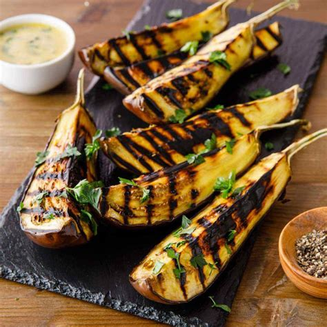 grilled eggplant  tahini dressing paleo grubs