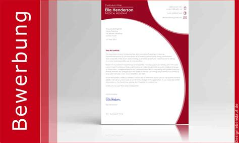 Bewerbungen Design Vorlage Bewerbung Auf Englisch Mit Cover Letter Und Cv Zum