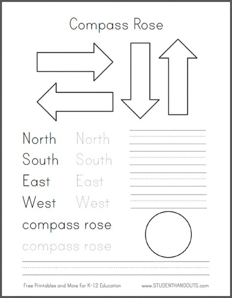 printable cardinal directions search results for directions using a map 1st grade