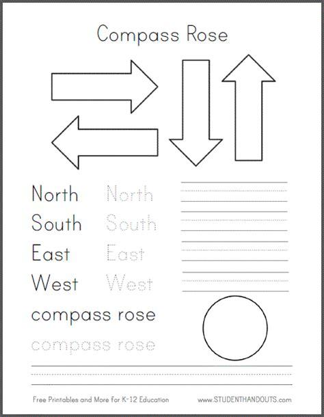 compass worksheet grade diy compass template free to print student handouts