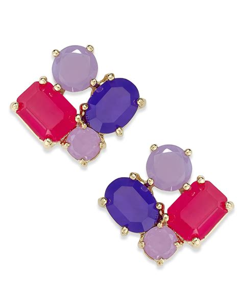 kate spade new york gold tone cluster stud earrings