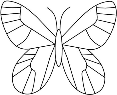 free butterfly templates free coloring pages of butterfly templates