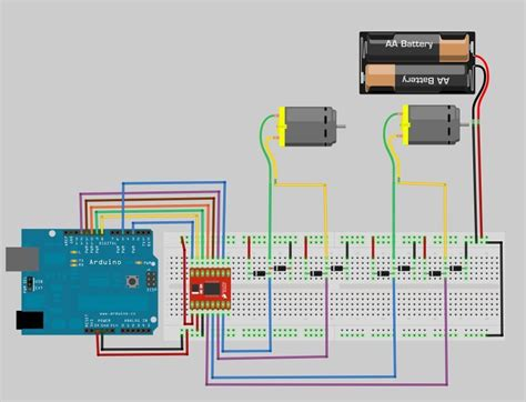 motor driver arduino using the sparkfun motor driver 1a dual tb6612fng using