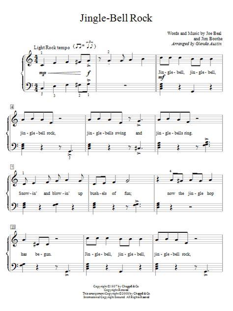 free printable jingle bell rock lyrics jingle bell rock sheet music direct