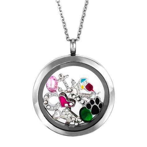 You Noticed These Necklaces With Charms by Jewelry Build A Charm Glass Floating Locket Get