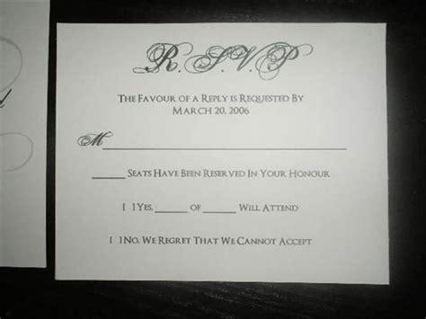 Rsvp Wedding Cards Filled Out