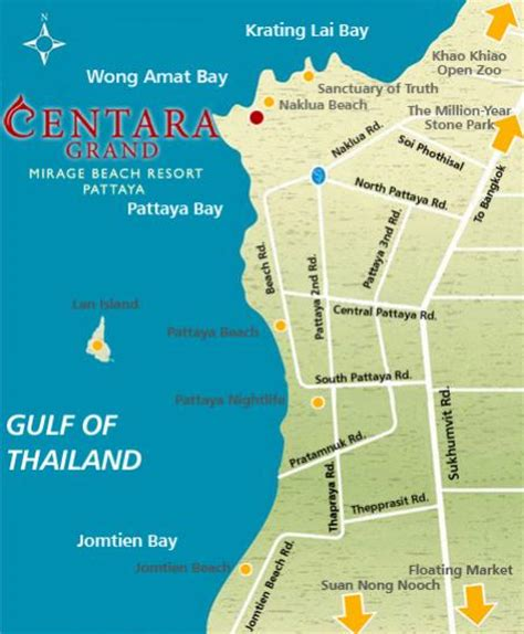 The Entrance Beach House - centara grand mirage pattaya map