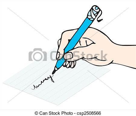 clipart mano clip vektor schreiben write mit